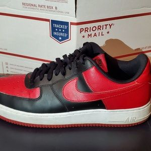 Black/Red/White Air Force 1